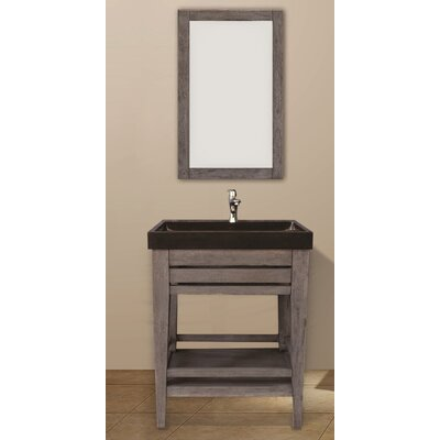 Madalyn 24 Single Bathroom Vanity Set with Mirror