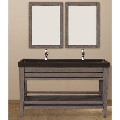 Madalyn 60 Double Bathroom Vanity Set Base Finish: Ash