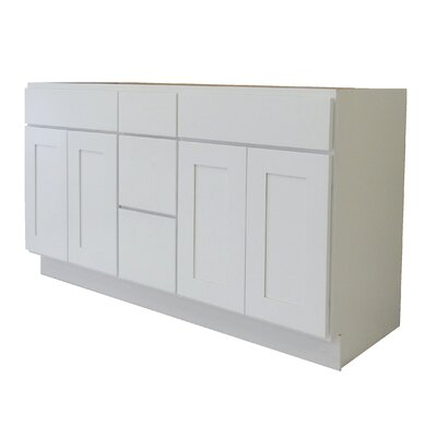 Shaker Cabinet 60 Double Bathroom Vanity Base