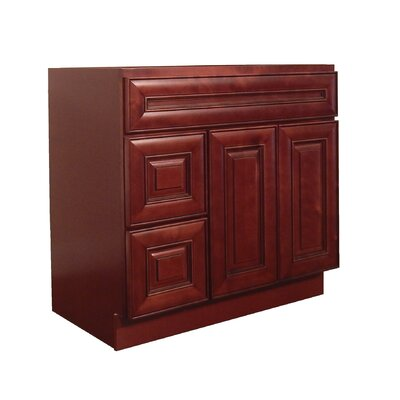 Maple 36 Single Bathroom Vanity Base