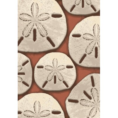 Coastal Ocean Treasure Coral Area Rug Rug Size: Runner 2 x 8