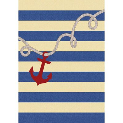 Coastal Rope and Anchor Natural Area Rug Rug Size: 5 x 8