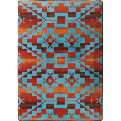 Johnny D Sacred Trail Red Burst Area Rug Rug Size: Rectangle 3 x 4