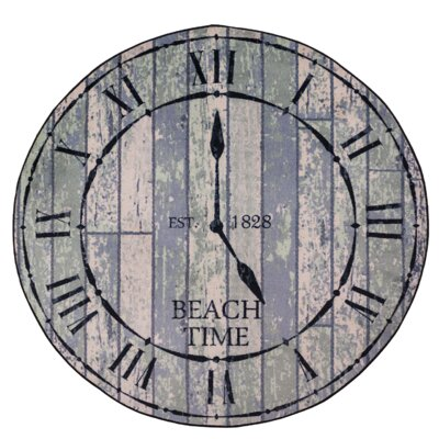 Coastal Beach Time Distressed Area Rug