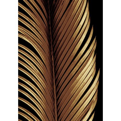 Coastal Tropical Leaf Study Black Area Rug Rug Size: Rectangle 8 x 11