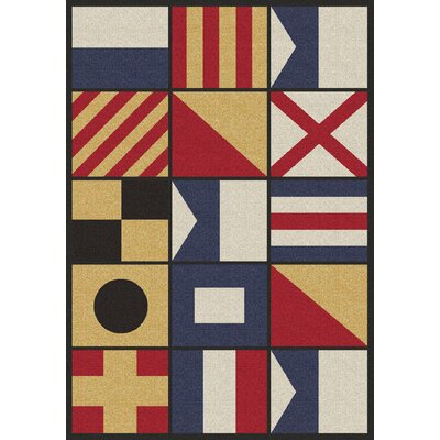Coastal Signal Multi Area Rug Rug Size: Rectangle 4 x 5