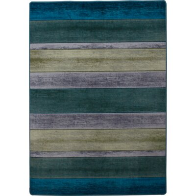 Coastal Bungalow Stripe Aqua Area Rug Rug Size: Rectangle 5 x 8