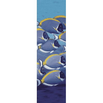 Coastal Serenely Beautiful Ocean Blue Area Rug Rug Size: Runner 2 x 8