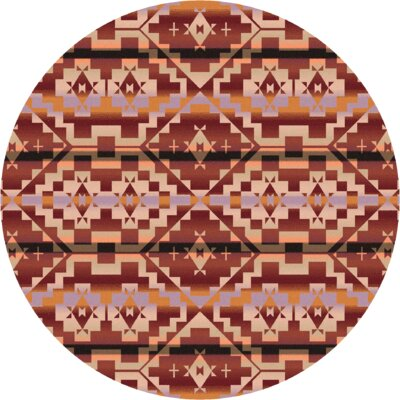 Johnny D Life Path Fire Area Rug Rug Size: Round 8