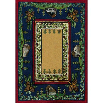 Specialty Cabin in the Pines Clearing Area Rug Rug Size: 3 x 4