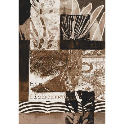 Coastal the Fisherman Brown Area Rug