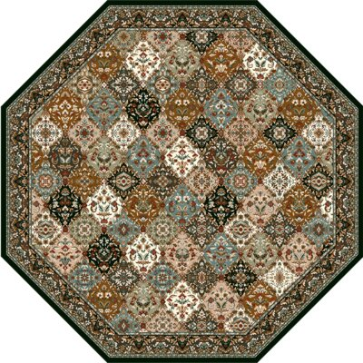 Specialty Badillo Brown Area Rug Rug Size: Octagon 11 x 11