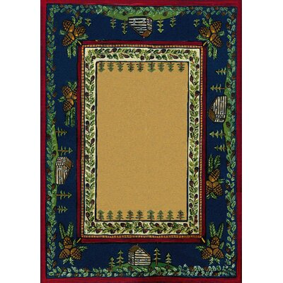 Specialty Cabin in the Pines Clearing Area Rug Rug Size: 8 x 11