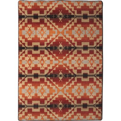 Johnny D Life Path Fire Area Rug Rug Size: Rectangle 4 x 5