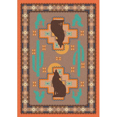 National Park Howl at the Moon Desert Rose Area Rug Rug Size: Rectangle 4 x 5