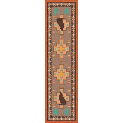 National Park Howl at the Moon Desert Rose Area Rug Rug Size: Runner 2 x 8
