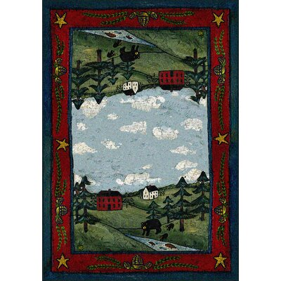 Specialty Black Bear Creek Crackle Area Rug Rug Size: 4 x 5