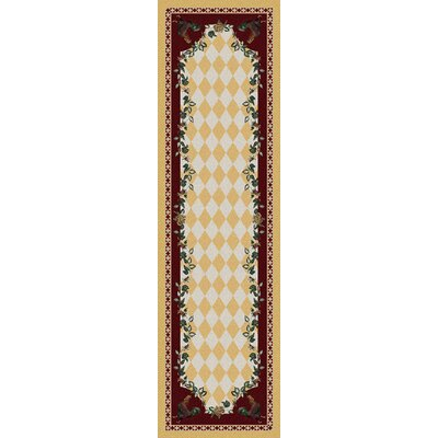 Novelty High Country Rooster Yellow Area Rug Rug Size: Runner 2 x 8