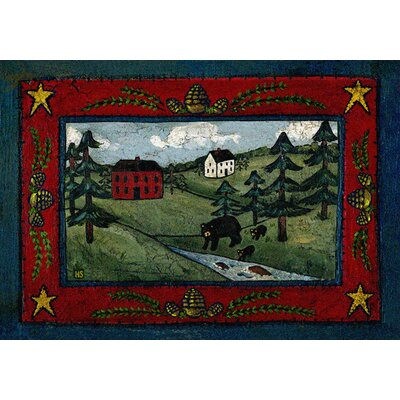 Specialty Black Bear Creek Crackle Area Rug Rug Size: 3 x 4