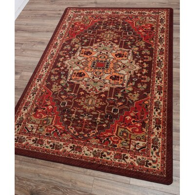 Robert Caine Persia Blaze Red/Beige Area Rug Rug Size: Rectangle 4 x 5