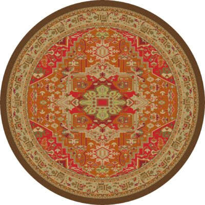 Robert Caine Persia Glow Orange/Brown Area Rug Rug Size: Round 8'