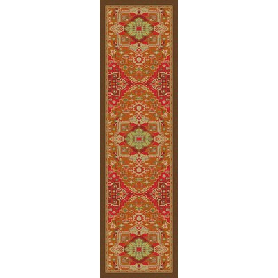 Robert Caine Persia Glow Orange/Brown Area Rug Rug Size: Runner 2' x 8'