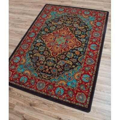 Robert Caine Montreal Desert Red/Blue Area Rug Rug Size: Rectangle 5 x 8