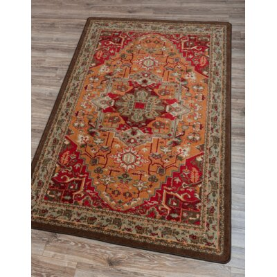 Robert Caine Persia Glow Orange/Brown Area Rug Rug Size: 4 x 5