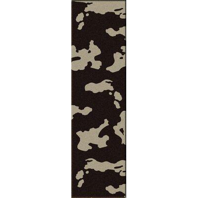 Motorhead Cowhide Chocolate Area Rug Rug Size: Runner 2 x 8