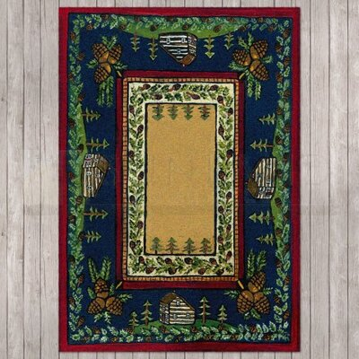 Specialty Cabin in the Pines Clearing Area Rug Rug Size: 4 x 5