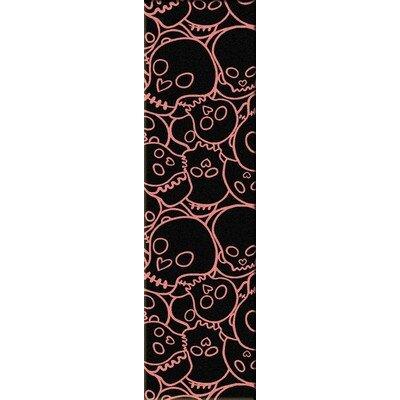 Motorhead Head Banger Pink Area Rug Rug Size: Runner 2 x 8