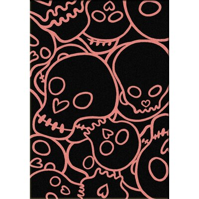 Motorhead Head Banger Pink Area Rug Rug Size: Rectangle 3 x 4