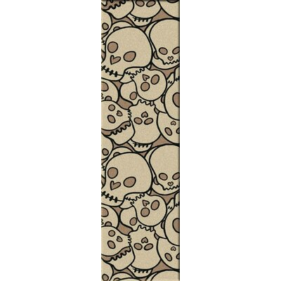 Motorhead Head Banger Natural Area Rug Rug Size: Runner 2 x 8
