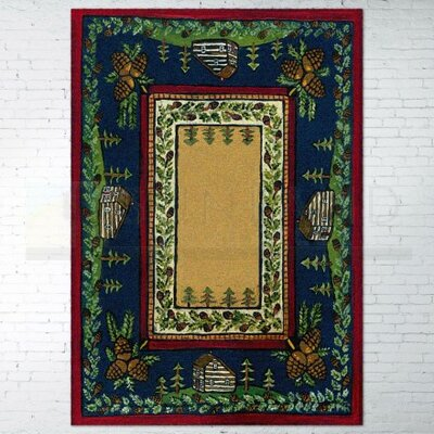 Specialty Cabin in the Pines Clearing Area Rug Rug Size: 5 x 8