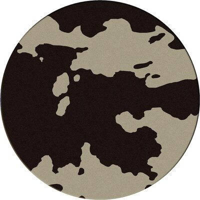Motorhead Cowhide Chocolate Area Rug Rug Size: Round 8