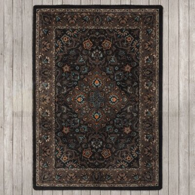 Robert Caine Montreal Electric Desert Brown/Blue Area Rug Rug Size: 4 x 5