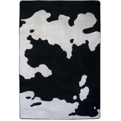 Motorhead Cowhide Black Area Rug Rug Size: Rectangle 5 x 8