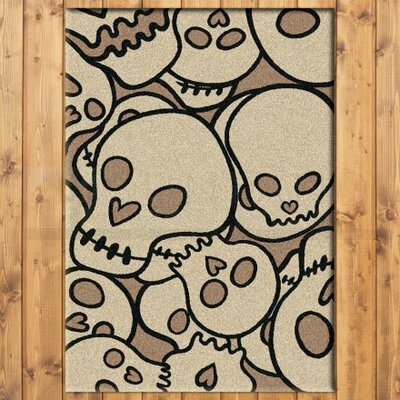 Motorhead Head Banger Natural Area Rug Rug Size: Rectangle 4 x 5
