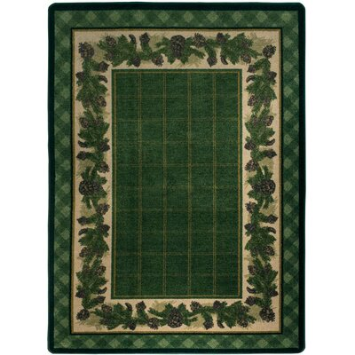 Cadell Pine Green Area Rug Rug Size: Rectangle 3 x 4