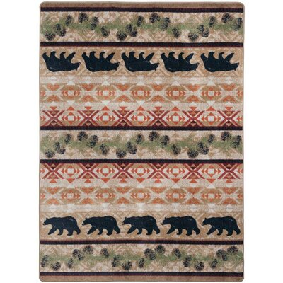 Cabana Bears Natural Area Rug Rug Size: Rectangle 3 x 4