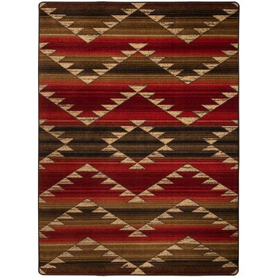 Cadnite Rumble Red Area Rug Rug Size: Round 8