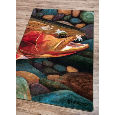 Iaeger Golden Catch Area Rug Rug Size: Rectangle 4 x 5