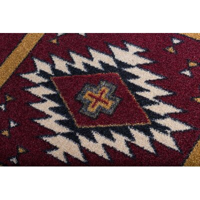 Busselton Deep Red Area Rug Rug Size: Runner 2' x 8'