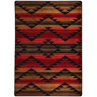 Cadnite Rumble Red Area Rug Rug Size: Runner 2 x 8