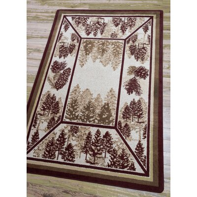 Cadia Pines Red Area Rug Rug Size: Rectangle 5 x 8
