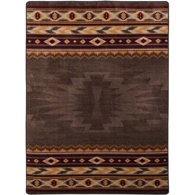 Bushley Brown Area Rug Rug Size: 5 x 8