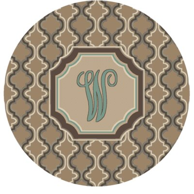 Lanikai Monogrammed Turquoise/Brown Area Rug Letter: W