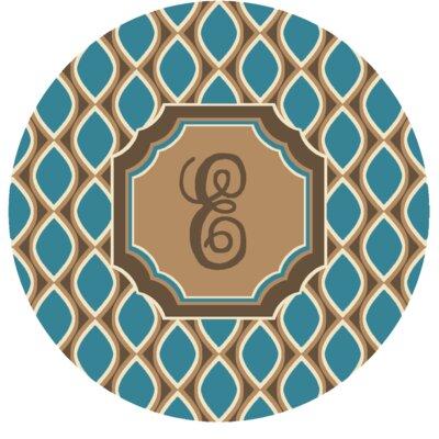Hansley Monogrammed Blue Area Rug Letter: E