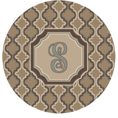 Lanikai Monogrammed Blue/Brown Area Rug Letter: S