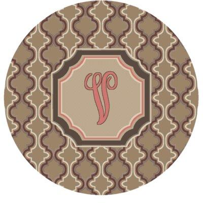 Lanikai Monogrammed Pink Area Rug Letter: V